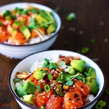 poke bowl & Taco sushi